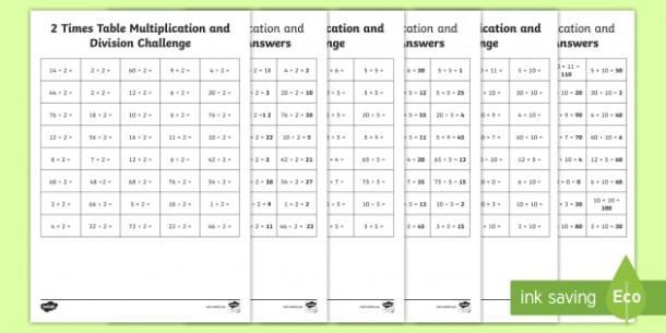 Free Multiplication Worksheets Timed Tests