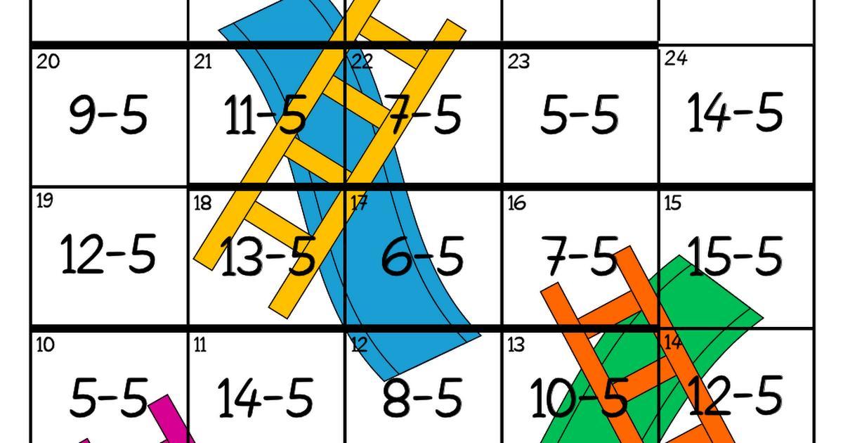 Multiplication Ladder Worksheets 5
