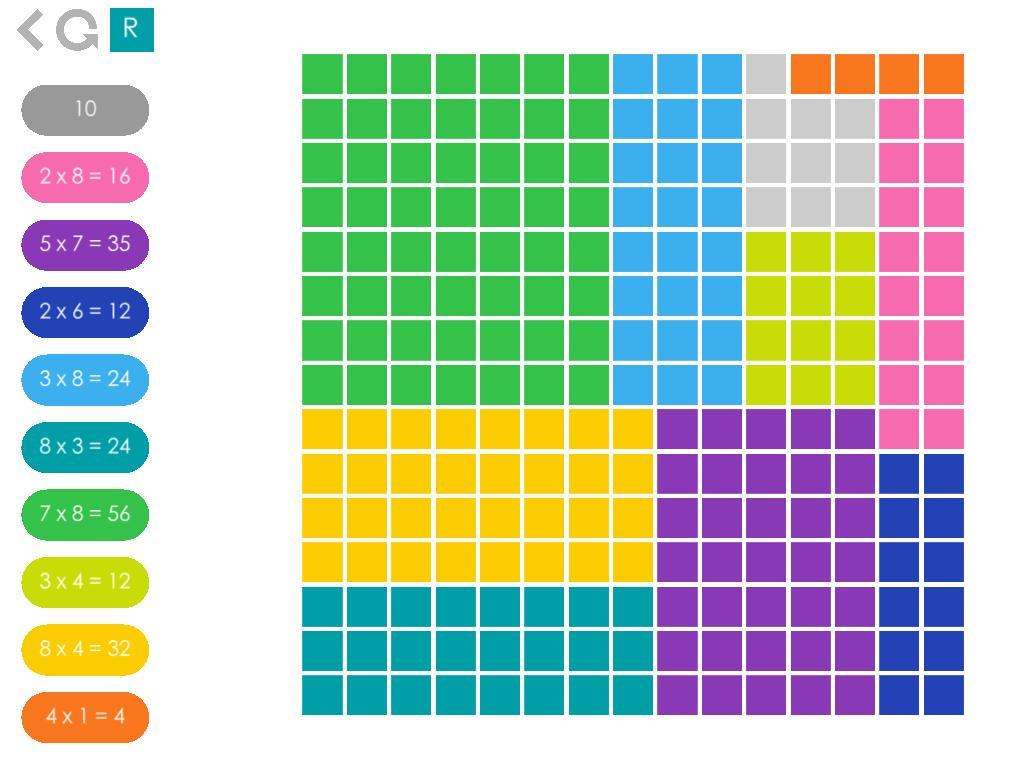 Multiplication Quilt Worksheet 3