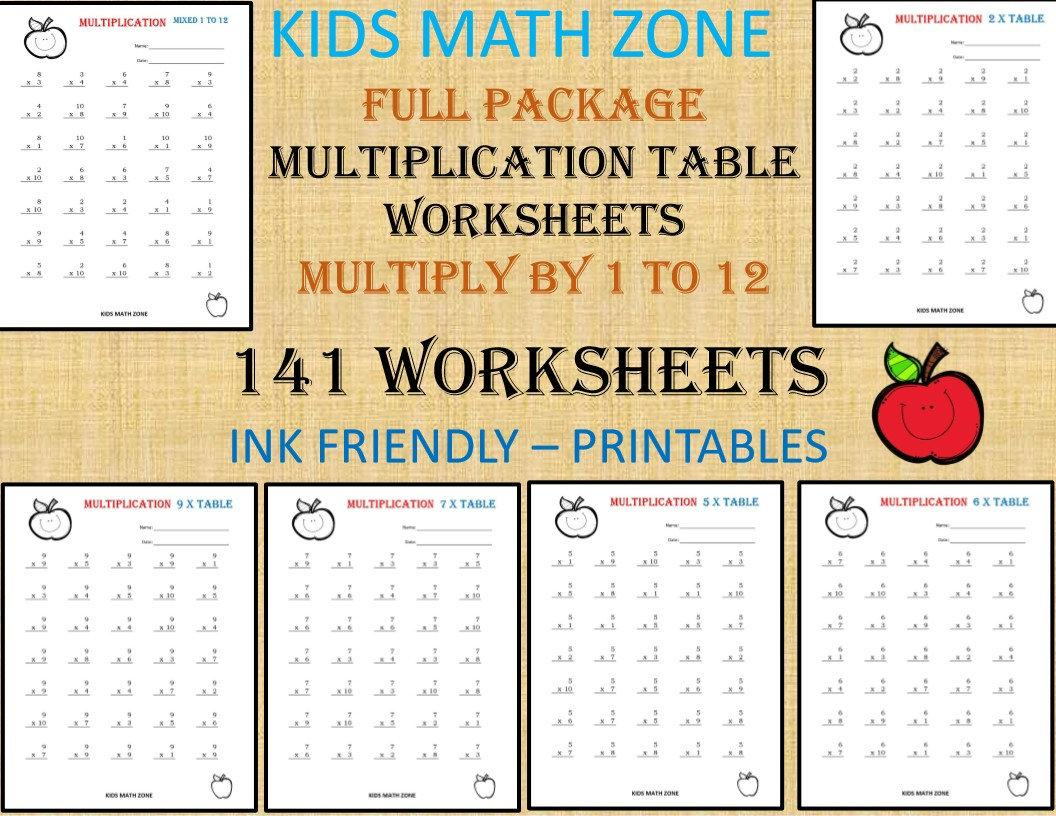 Multiplication Quilt Worksheet 4