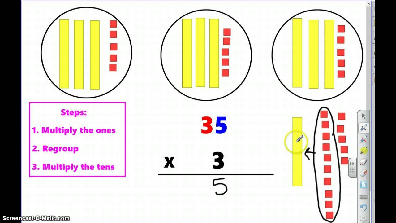 Multiplication Regrouping Worksheets 3rd Grade
