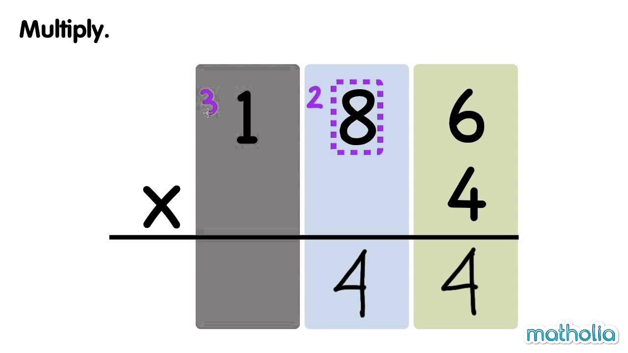 Multiplication Regrouping Worksheets Grade 4