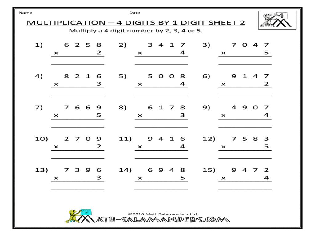 Multiplication Worksheet 3 By 2