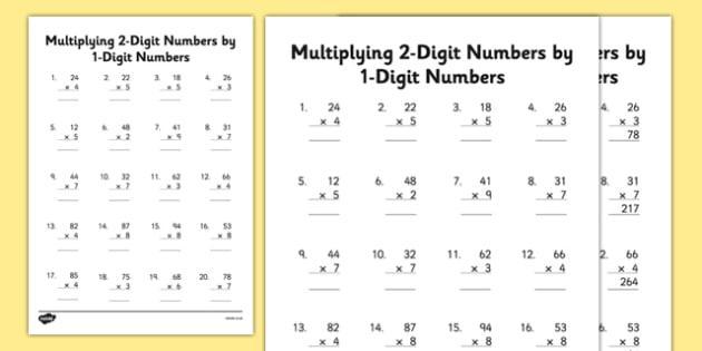 Multiplication Worksheets 2s