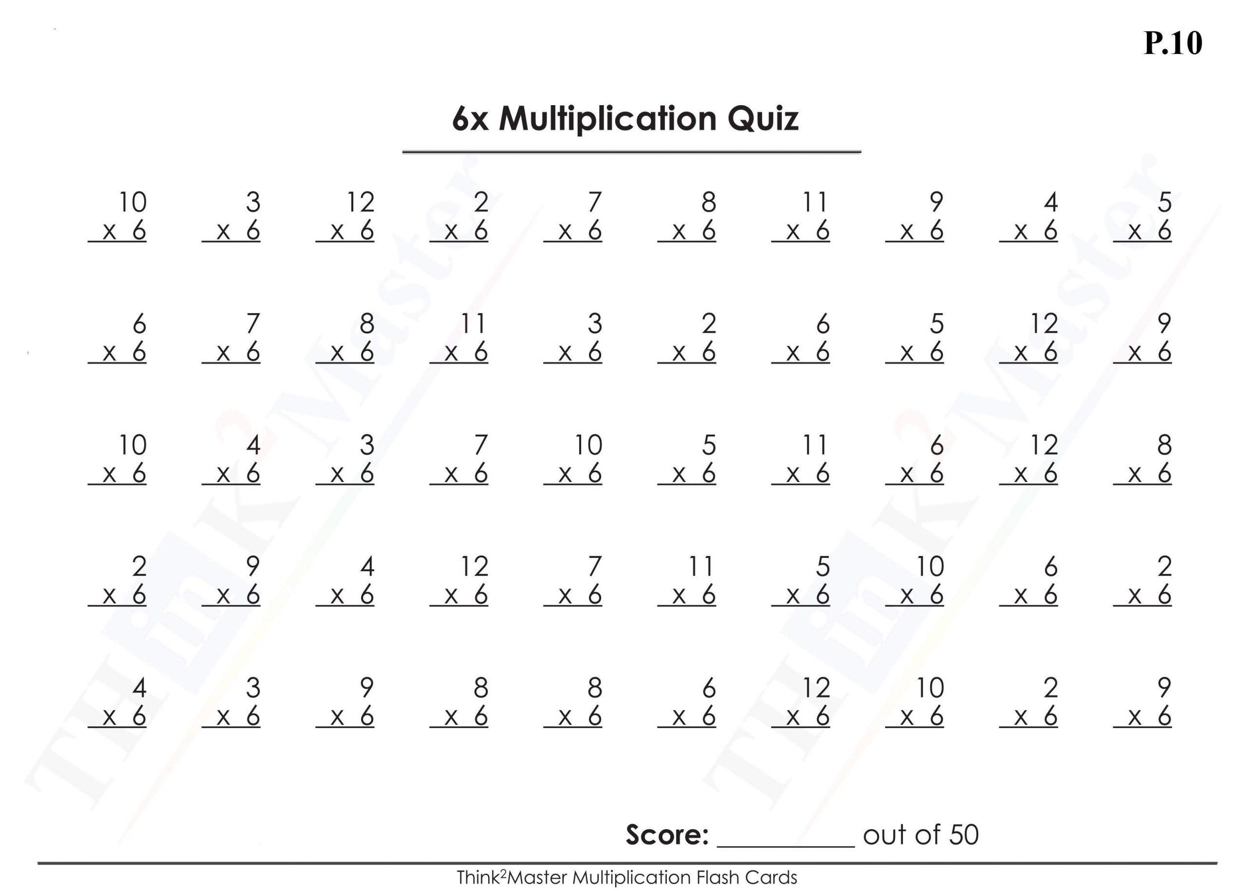 Multiplication Worksheets 6 7 8 9