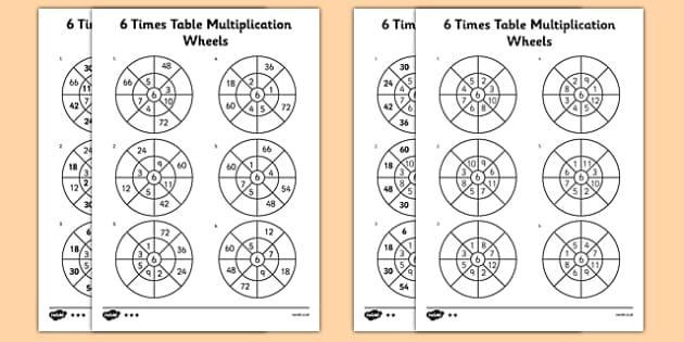 Multiplication Worksheets 6 Through 12