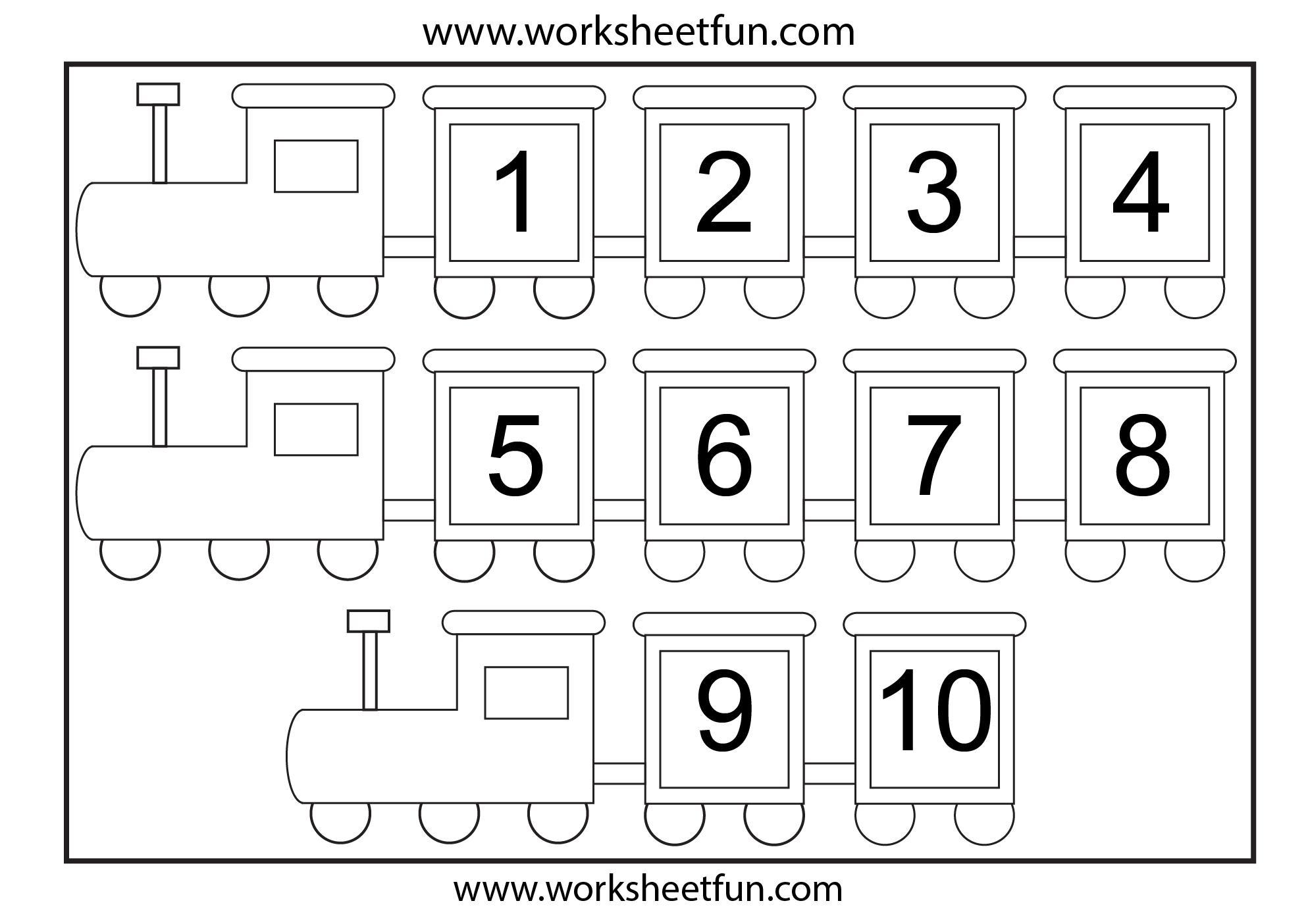 Multiplication Worksheets Numbers 1-10 1