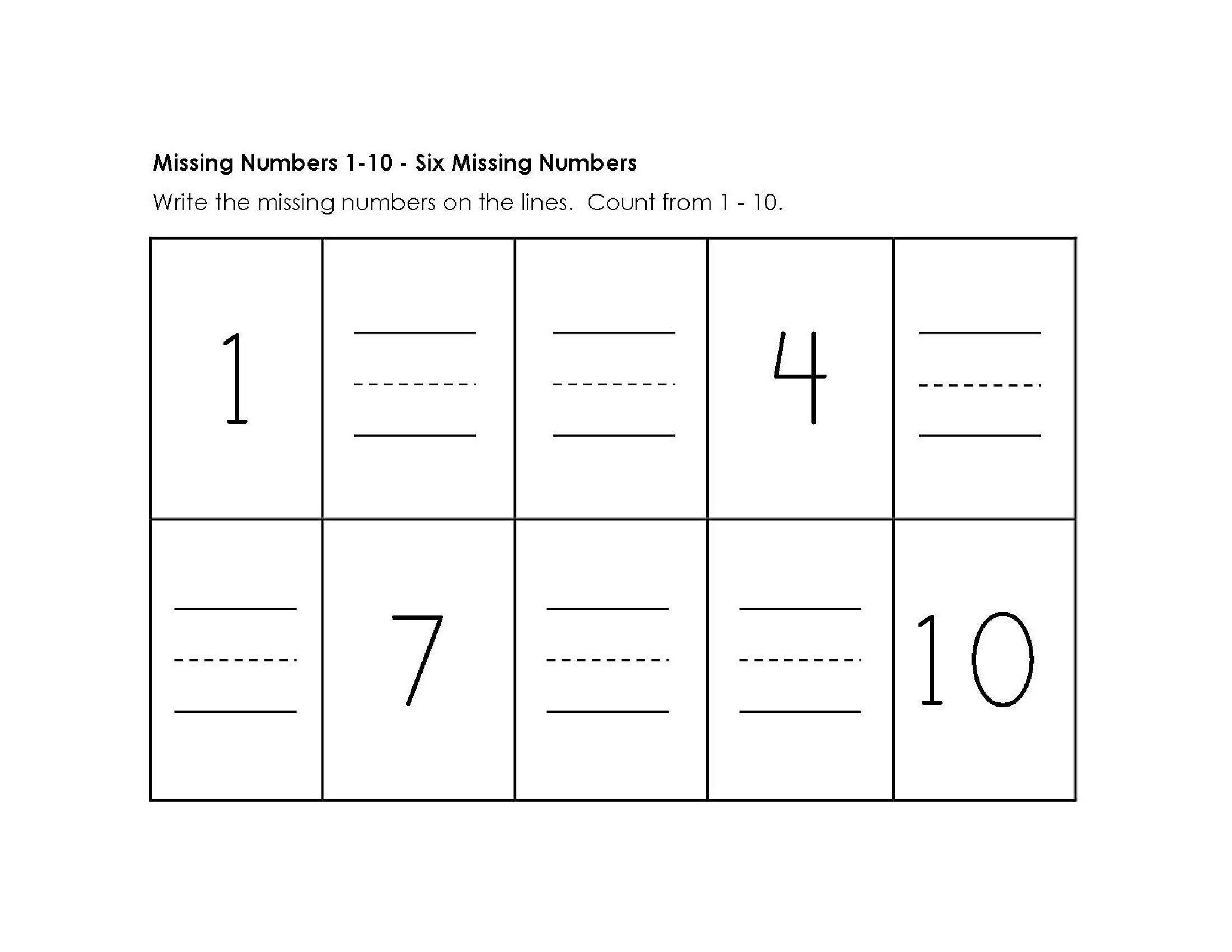 Multiplication Worksheets Numbers 1-10 7