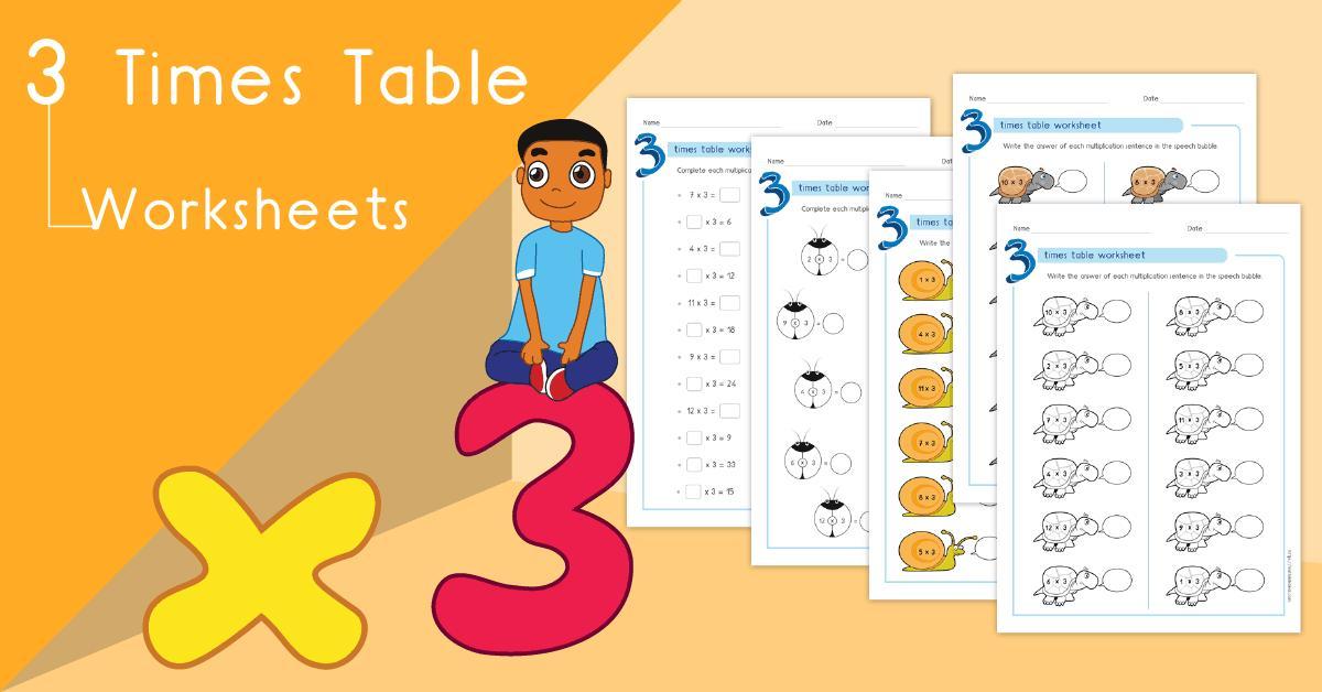 Multiplication Worksheets Of 3 1