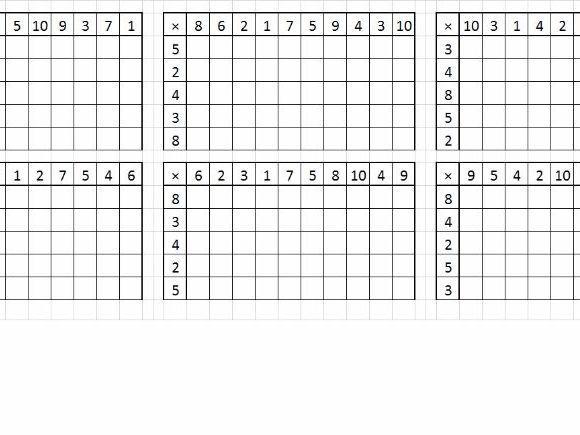 Multiplication Worksheets Random Order 4