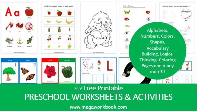 Free Printable Preschool Worksheets And Activities