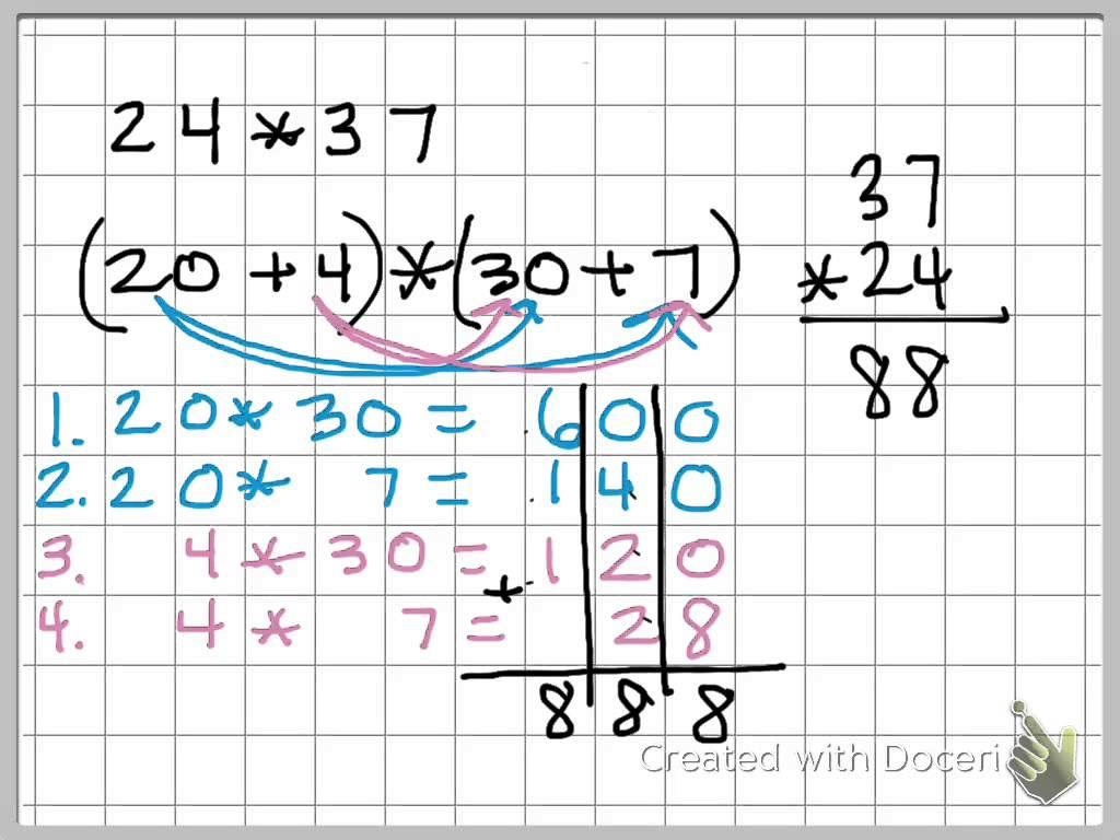 Multiplication Vertical Worksheets Common Core 3