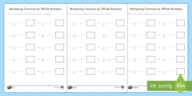 Multiplication Visual Worksheets 3