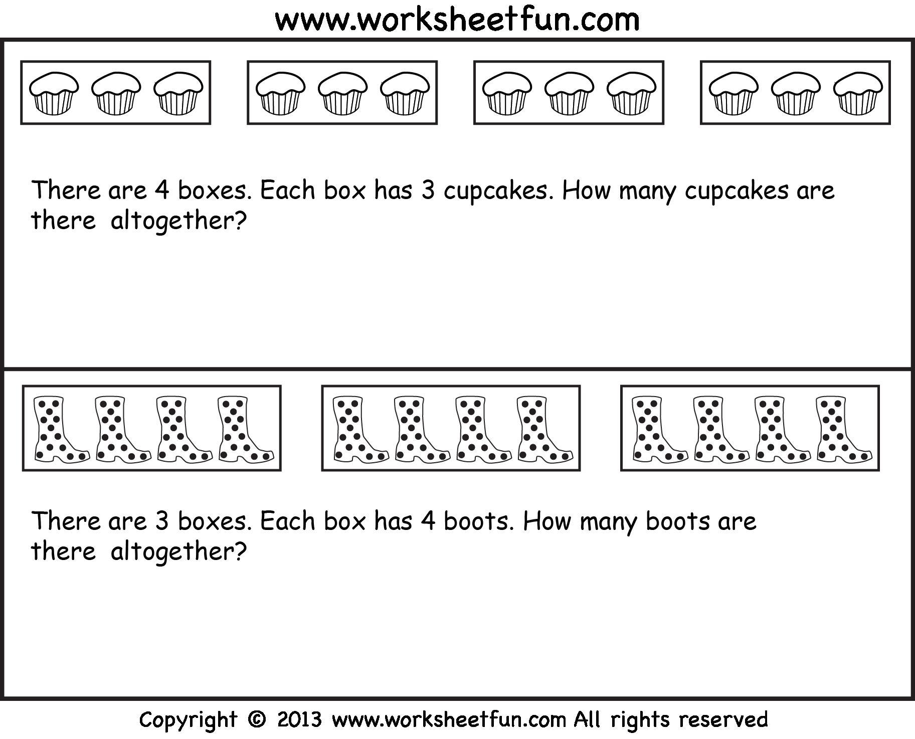 Multiplication Worksheets Word Problems Grade 2