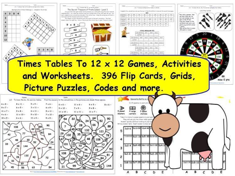 Multiplication Worksheets X 12 8