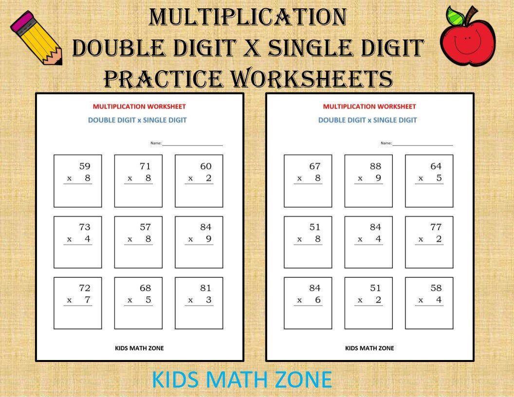Multiplication Worksheets X4 5
