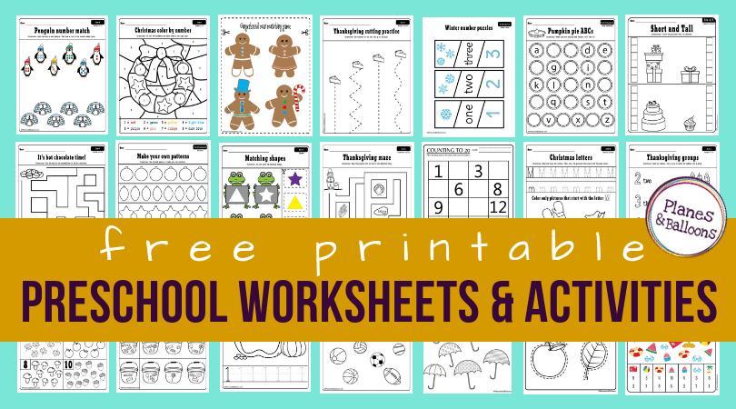 Preschool Worksheets Age 2-3 1