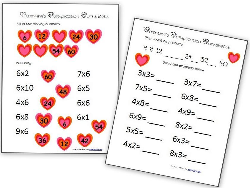 Valentine Math Worksheets 4th Grade