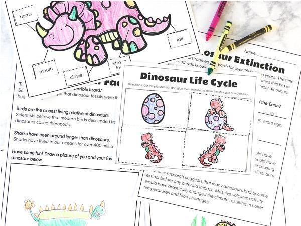 Free Printable Preschool Dinosaur Worksheets