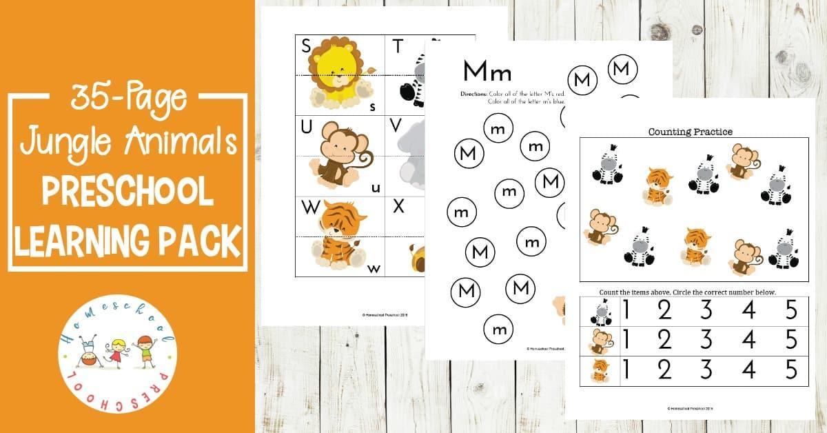 Jungle Worksheets For Preschool
