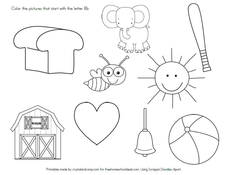 Letter B Worksheets Preschool Pdf