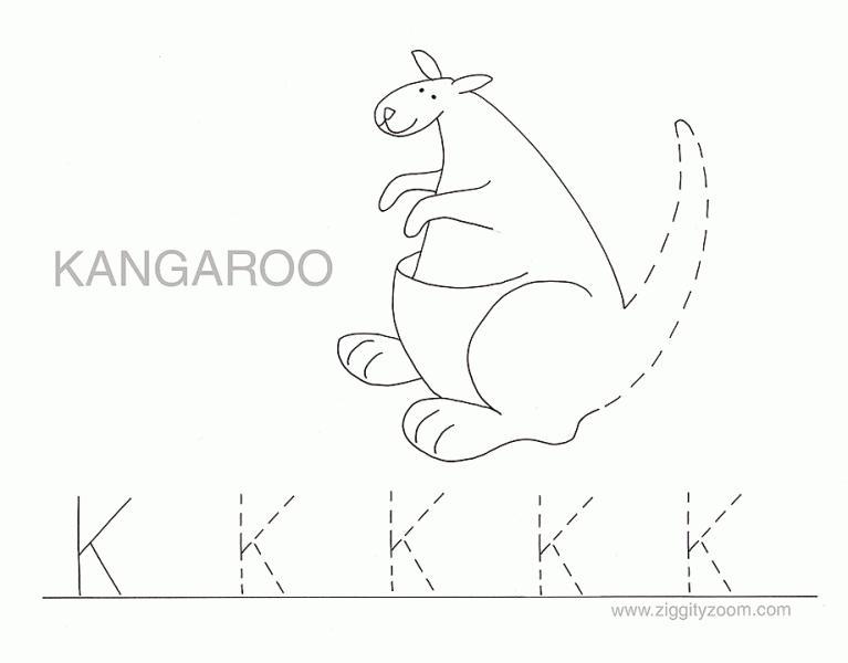 Letter K Tracing Worksheets Preschool