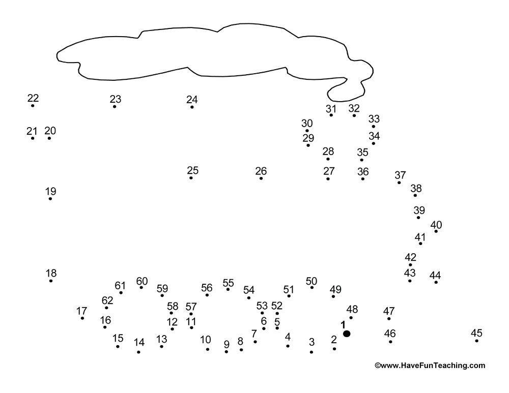 Preschool Dot To Dot Worksheets Pdf