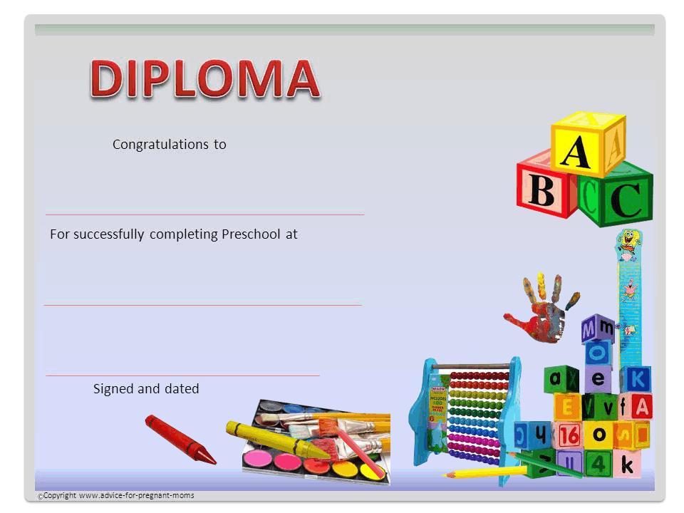 Preschool Graduation Worksheets 2