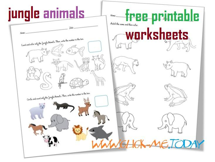 Preschool Jungle Worksheets 2