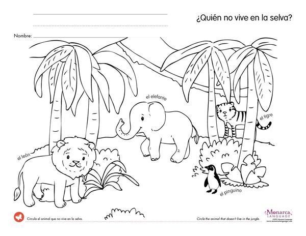 Preschool Jungle Worksheets 4