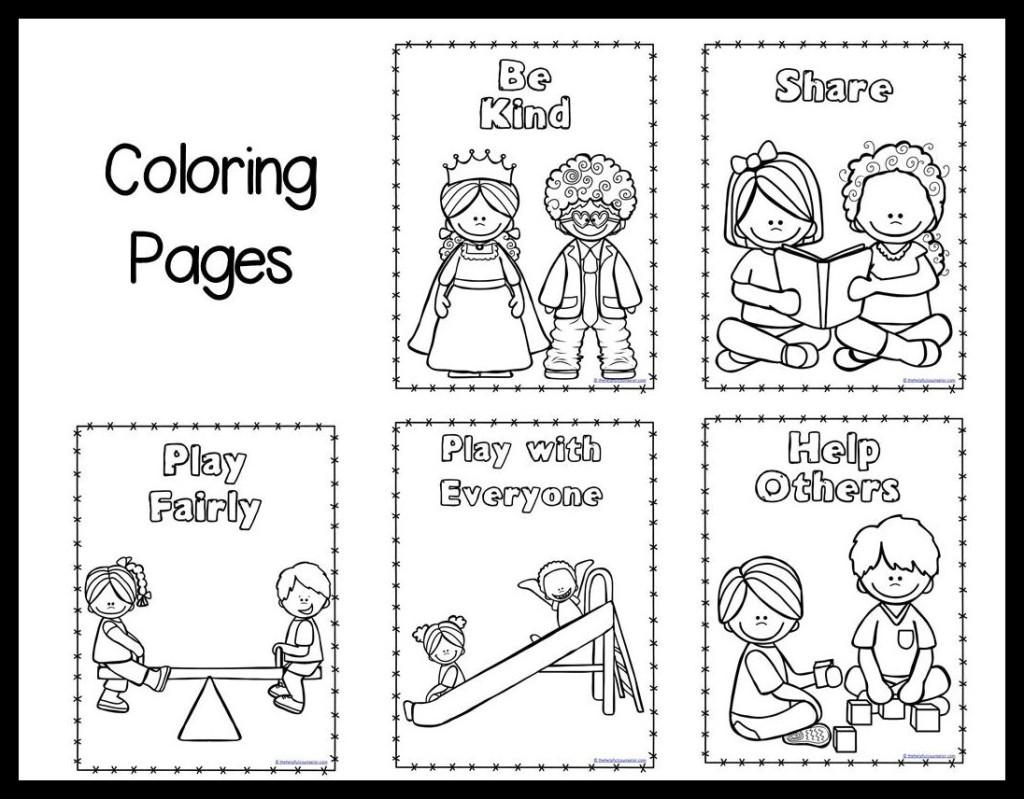 Preschool Kindness Worksheets 3