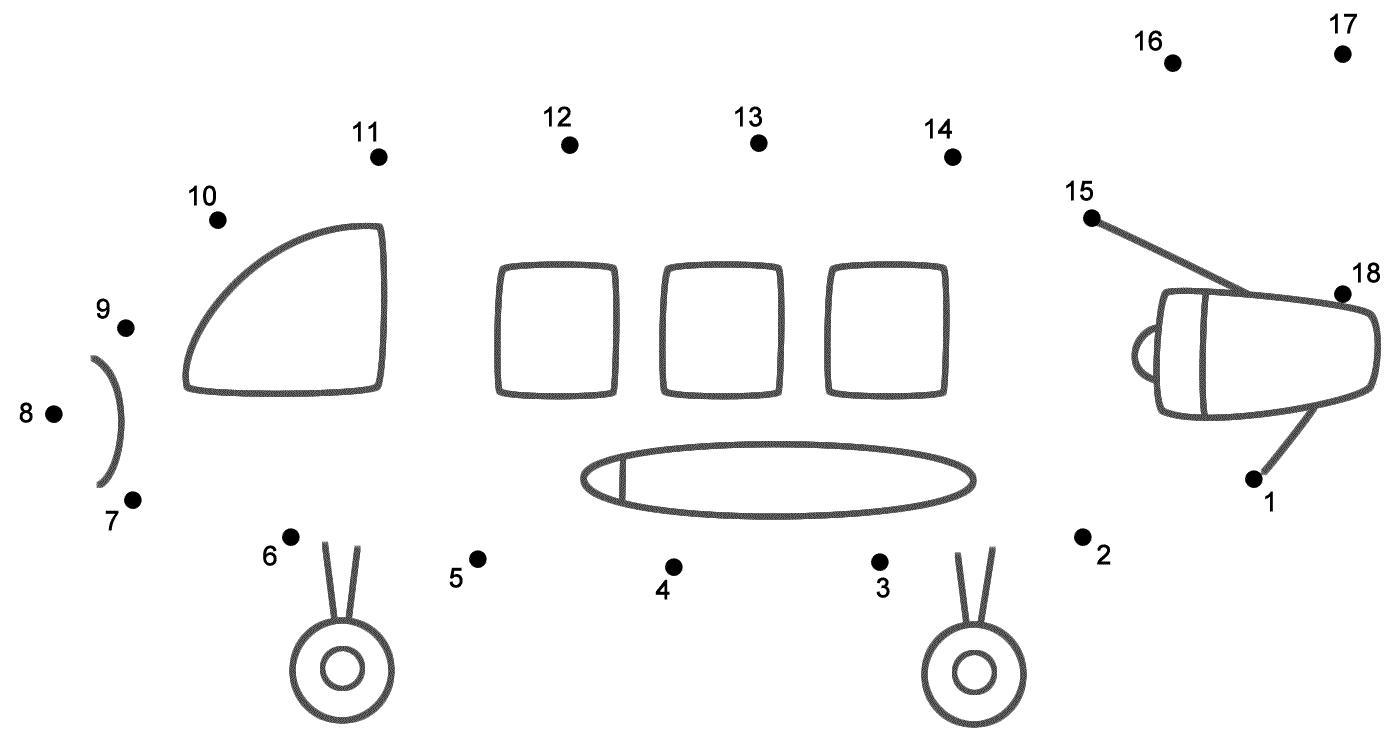 Preschool Number Dot To Dot Worksheets