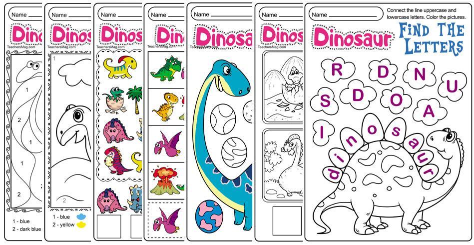 Preschool Worksheets About Dinosaurs