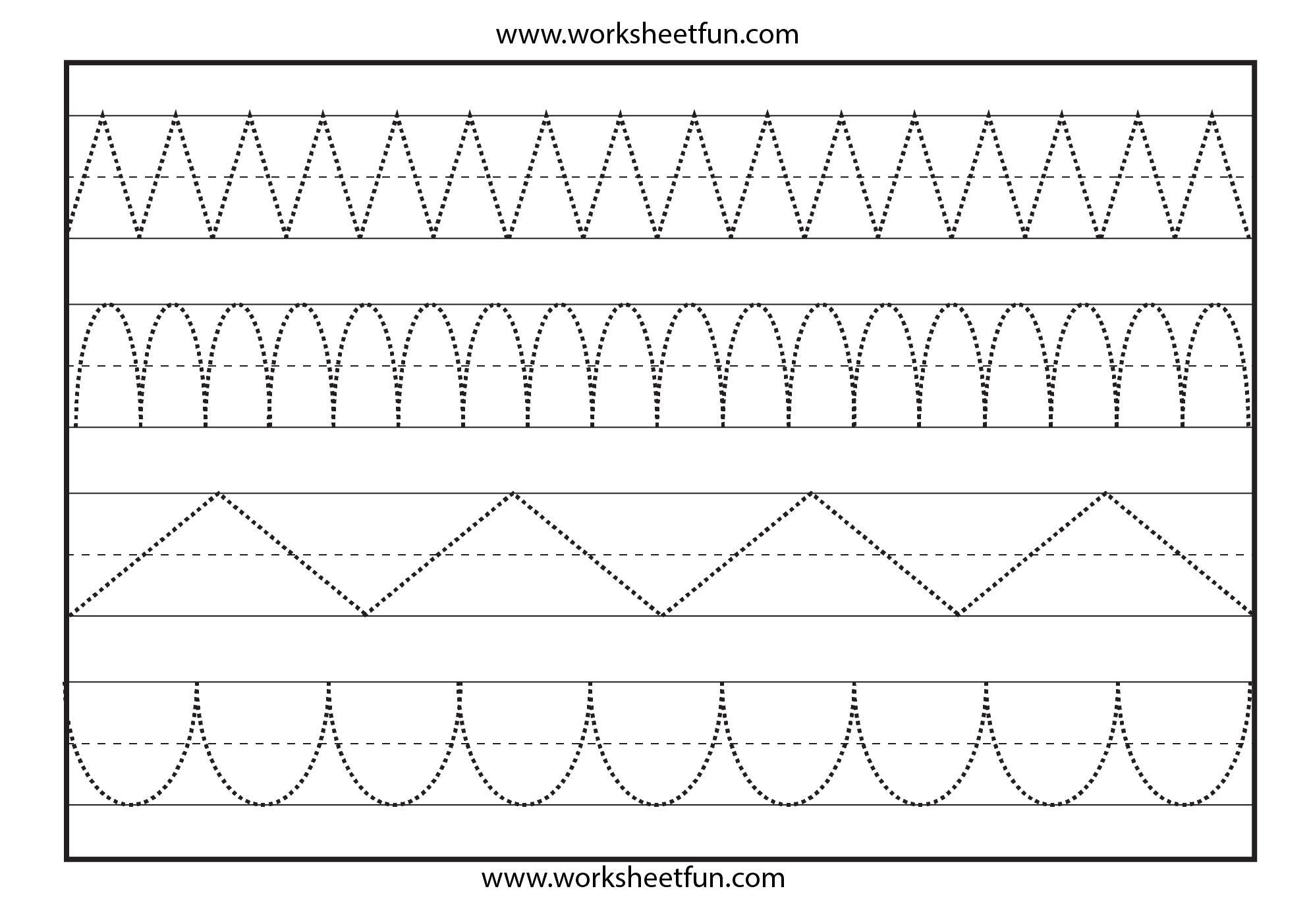 Preschool Worksheets Dotted Lines 7