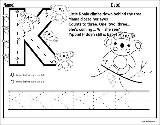 Preschool Worksheets For The Letter K