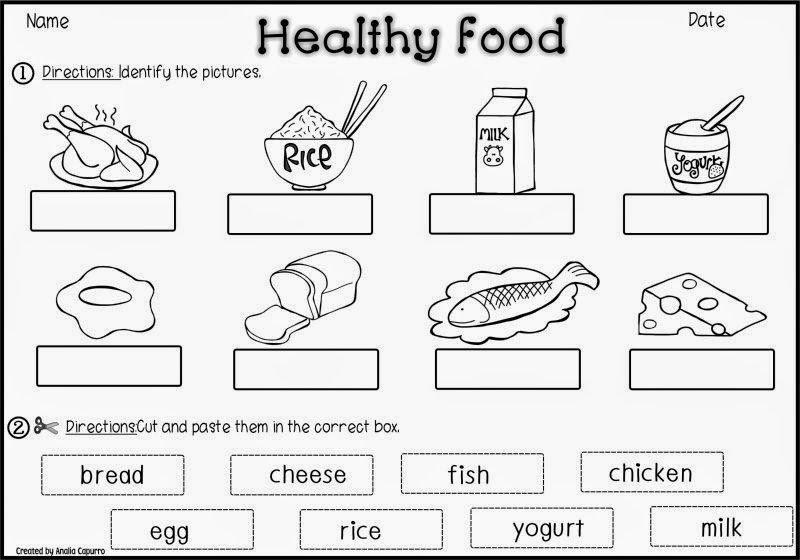 Preschool Worksheets Healthy Food 2