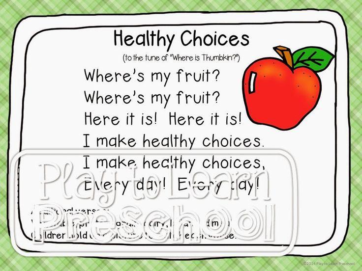 Preschool Worksheets Healthy Food 3