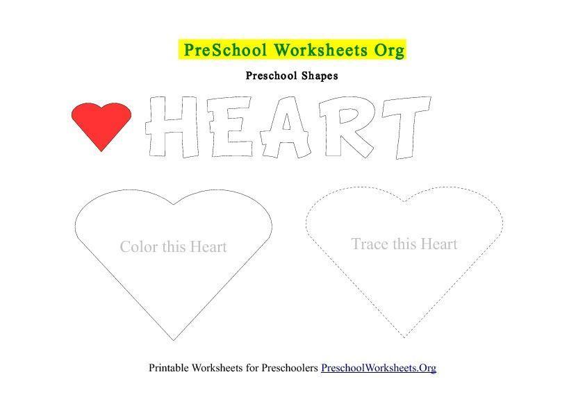 Preschool Worksheets Heart 2
