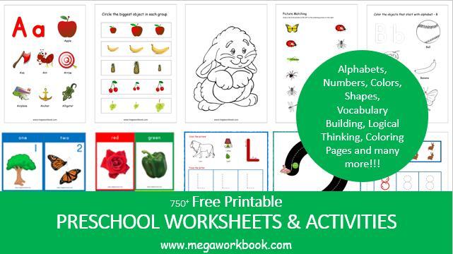 Preschool Worksheets Images 7