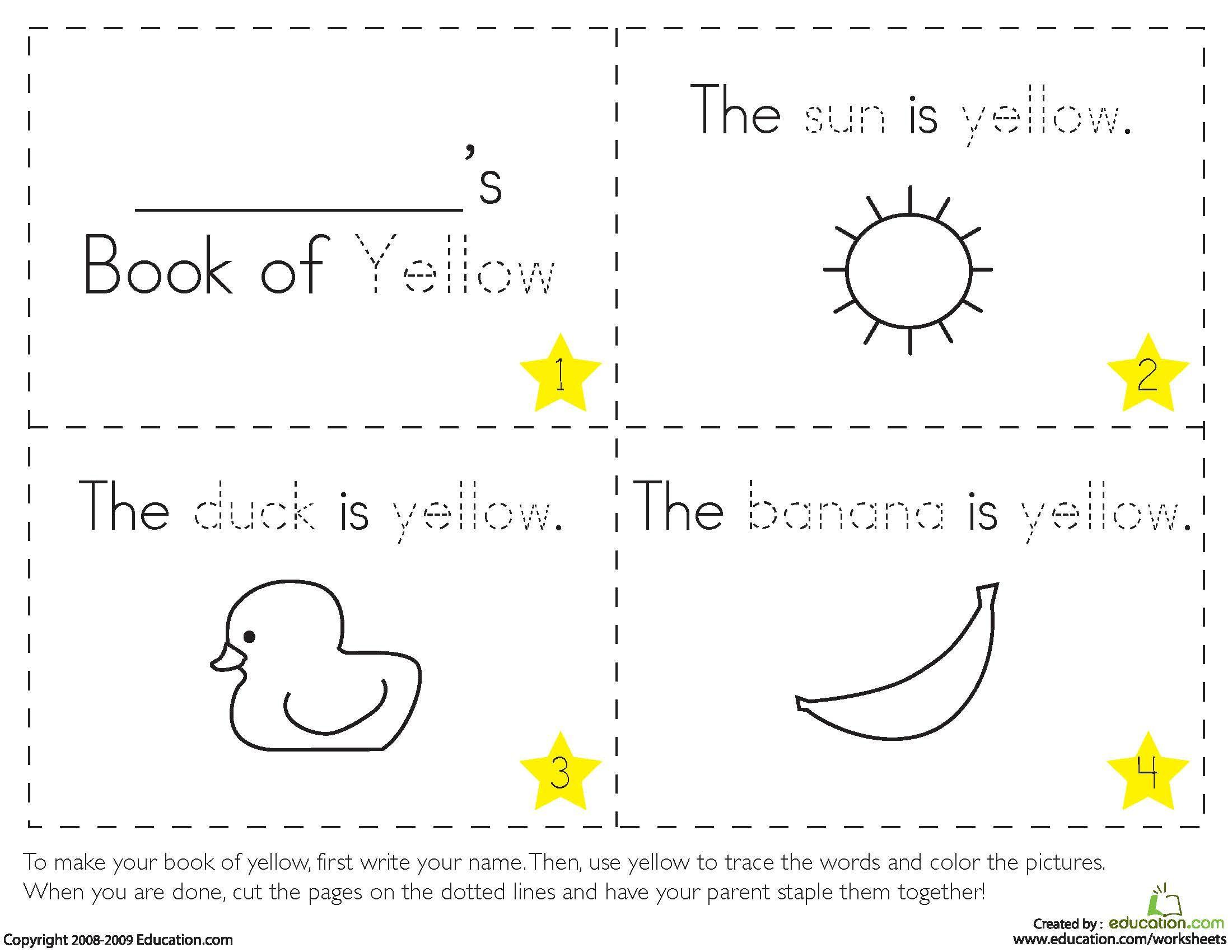 Preschool Worksheets In Color 1