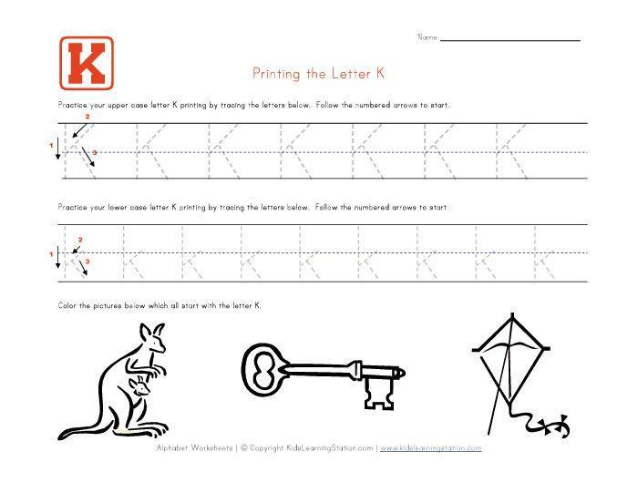 Preschool Worksheets Letter K 2