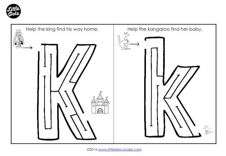Printable Letter K Worksheets For Preschool
