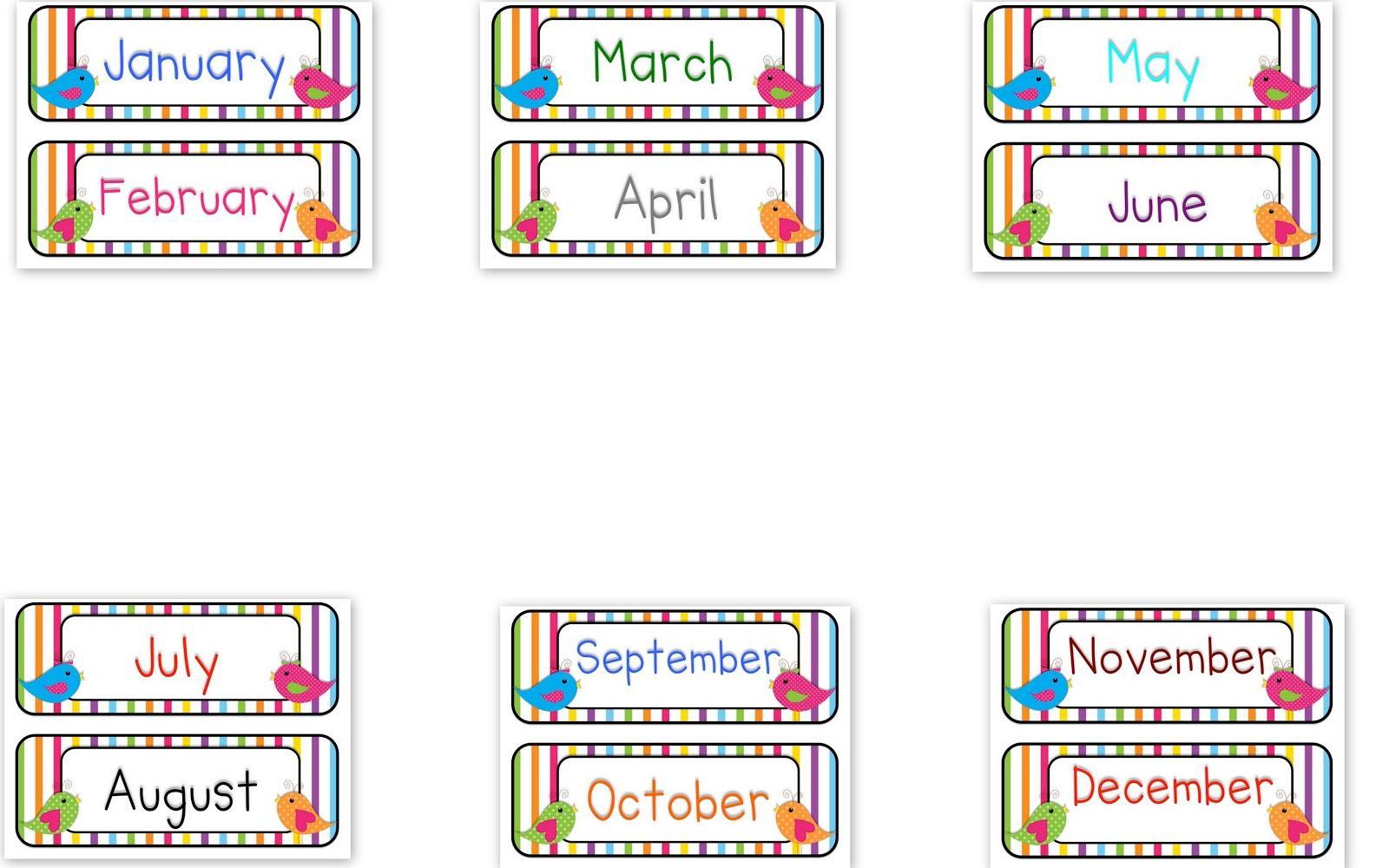 Preschool Months Of The Year Worksheets For Kindergarten