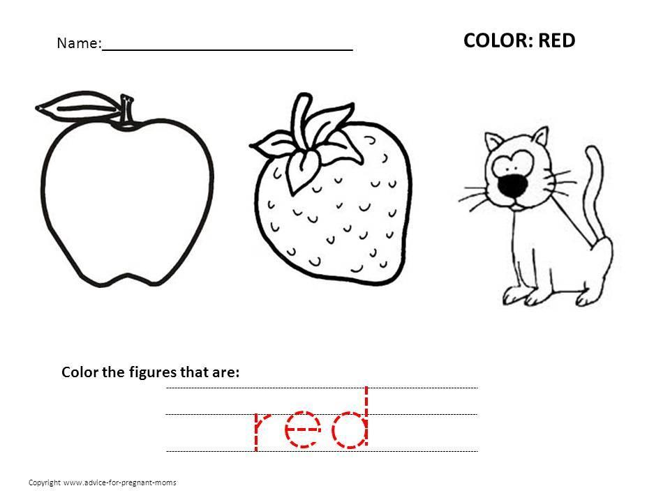 Preschool Printables Colors
