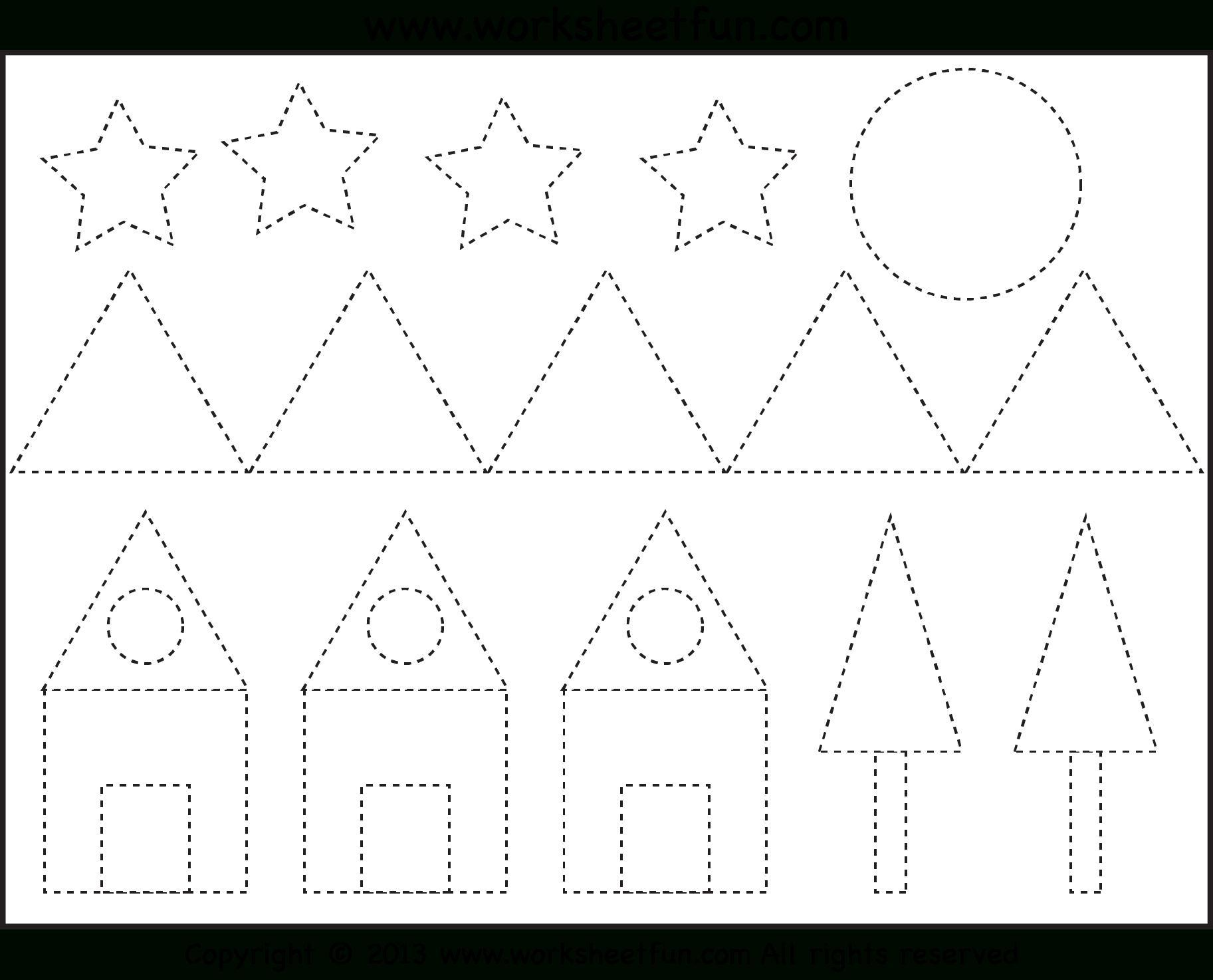 Preschool Tracing Patterns Worksheets