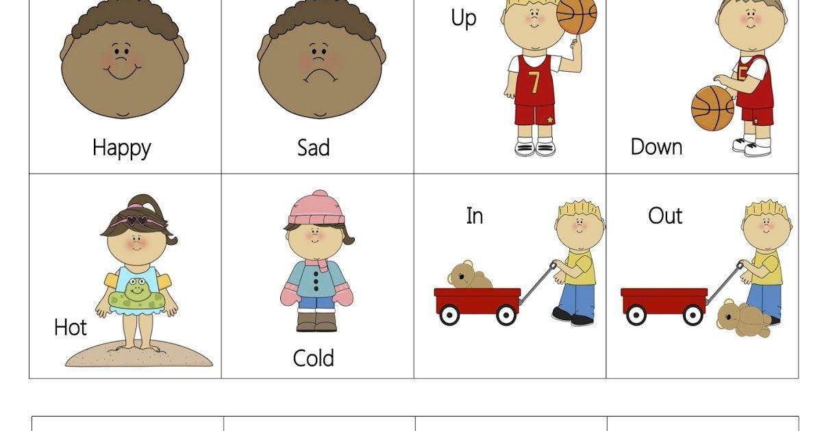 Preschool Up And Down Worksheet For Nursery