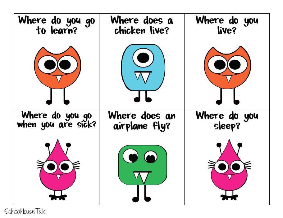 Preschool Wh Questions Worksheets 3
