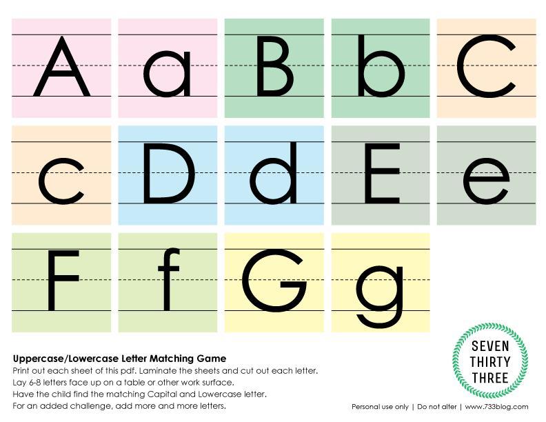 Preschool Worksheets Matching Upper Lowercase Letters 5