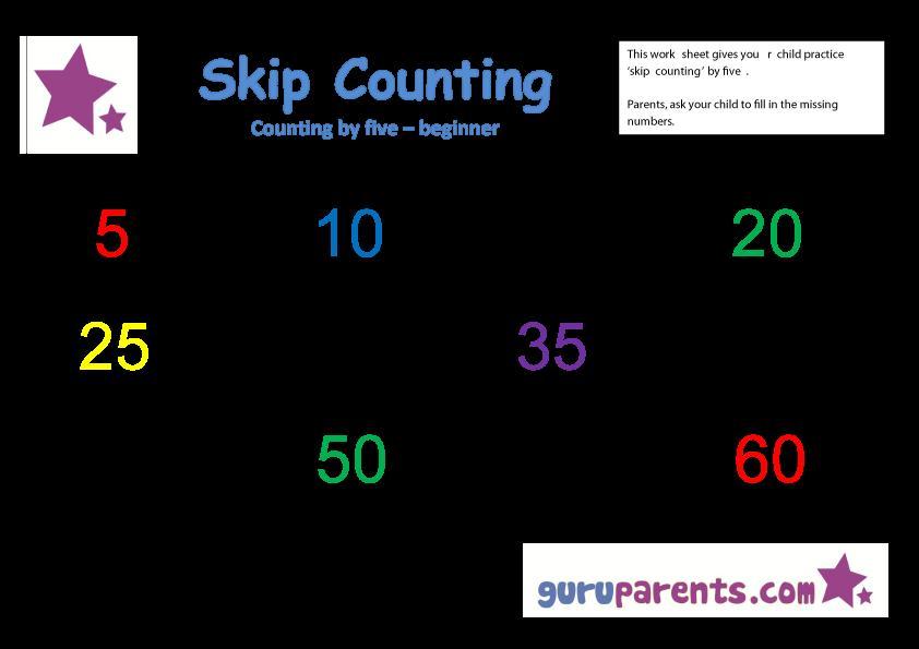 Preschool Worksheets Numbers 1-20