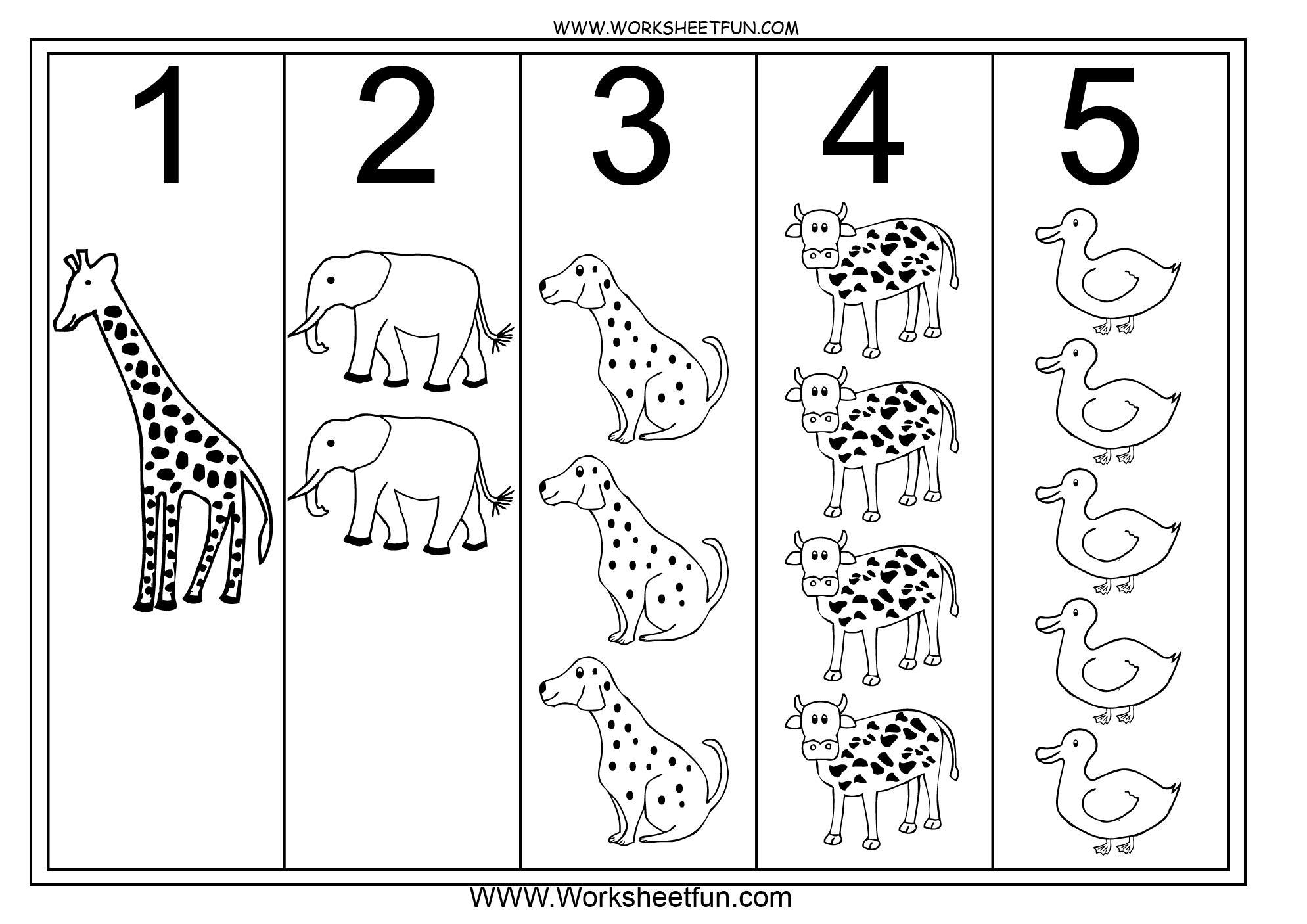 Preschool Worksheets Numbers 1-5 1